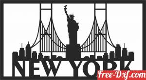 download Statue of Liberty new york Home Decor free ready for cut