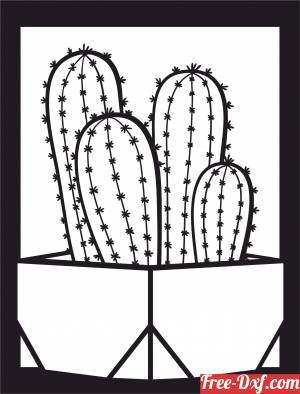 download potted cactus plant home decor free ready for cut