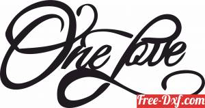 download one love sign free ready for cut