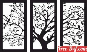download tree panels wall art free ready for cut