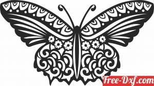 download butterfly wall art decor free ready for cut