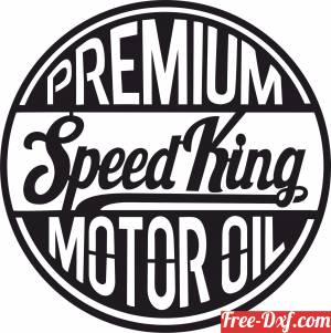 download Premium Speed King Motor Oil  Retro Sign free ready for cut
