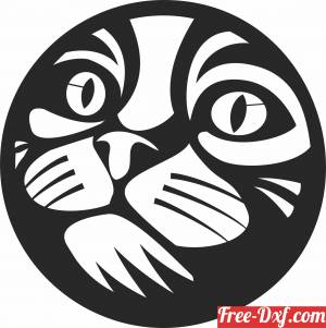 download cute Cat wall decor free ready for cut