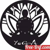 download yoga wall clock free ready for cut