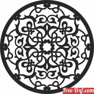 download mandala wall art free ready for cut