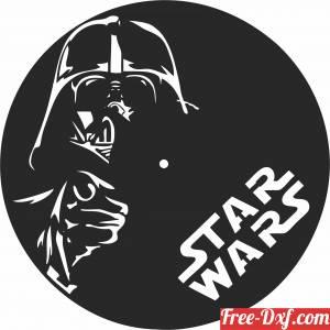 download star wars wall vinyl clock free ready for cut