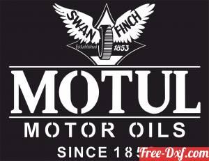 download Motul Motor Oil Logo Retro Sign free ready for cut