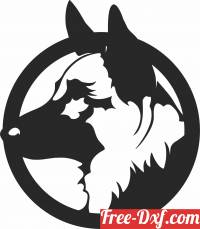 download German shepherd dog decor clipart free ready for cut