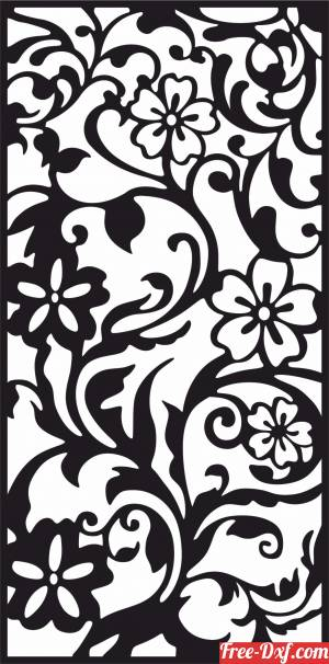 download panel decorative wall screen floral pattern free ready for cut