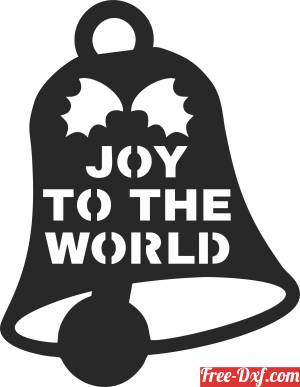 download joy the world Christmas decor tree free ready for cut