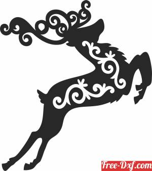 download Christmas deer decor free ready for cut