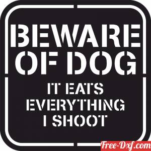 download Wall Dog sign free ready for cut