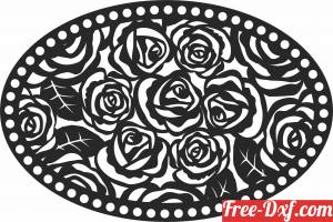 download flowers wall decor free ready for cut