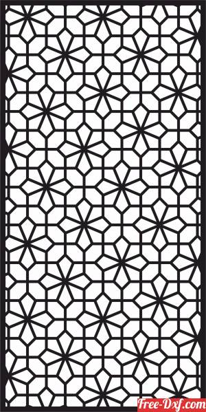 download geometric decorative panel wall screen pattern free ready for cut