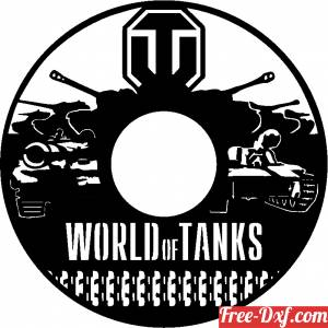 download World of tanks wall clock free ready for cut