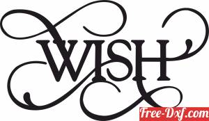 download Wish wall sign clipart free ready for cut