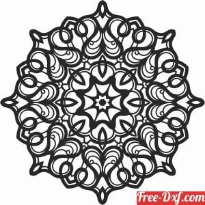 download Round mandala Decorative pattern free ready for cut