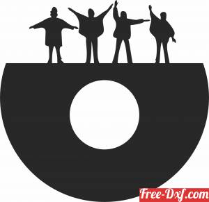 download the beatles Wall home Clock free ready for cut