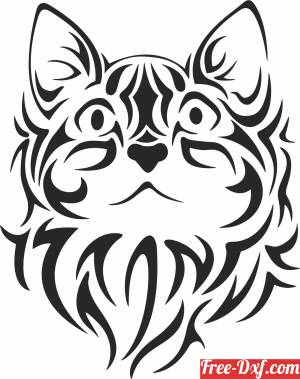 download tribal Cat wall decor free ready for cut