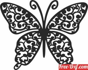 download butterfly wall decor cliparts free ready for cut