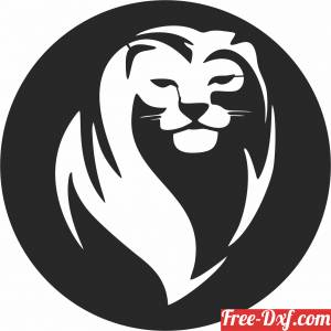 download Lion wall decor free ready for cut