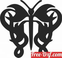 download Butterfly decorative free ready for cut