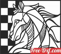 download Horse clipart decor geometric free ready for cut