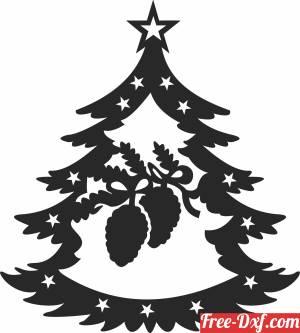 download Christmas decor santa tree free ready for cut