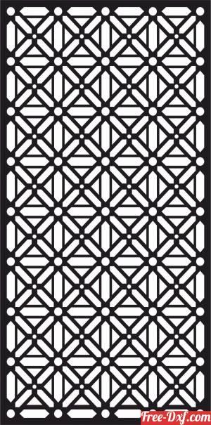 download decorative panel wall screen pattern geometric art free ready for cut