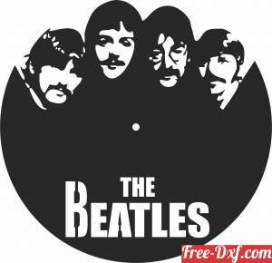 download beatles Wall Clock free ready for cut