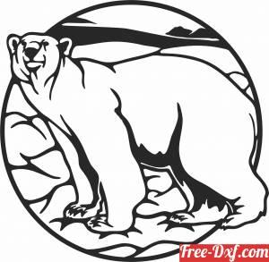 download Polar bear wall decor free ready for cut