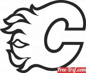 download Calgary Flames  ice hockey NHL team logo free ready for cut