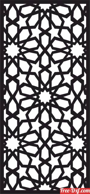 download decorative panel door wall screen pattern free ready for cut