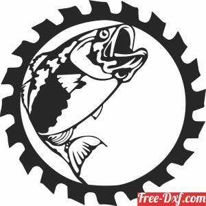 download Fish clipart wall decor free ready for cut