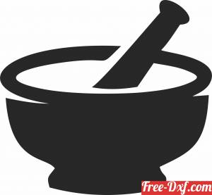 download old Medicine bowl Medical Symbol cliparts free ready for cut