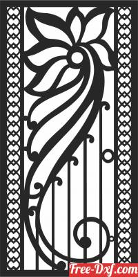 download decorative panel screen pattern partition free ready for cut