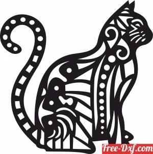 download Cat decorative clipart free ready for cut
