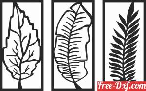 download leaves panels wall decor free ready for cut