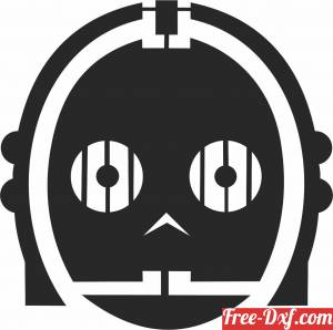 download Star Wars Silhouette figure clipart free ready for cut