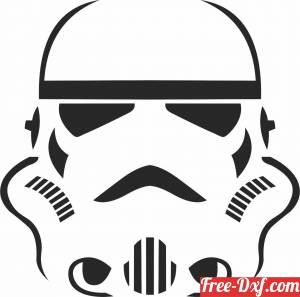 download storm trooper Star Wars figure clipart free ready for cut