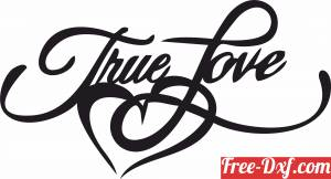 download true love sign heart free ready for cut