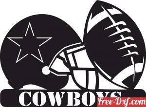 download Dallas Cowboys NFL helmet LOGO free ready for cut