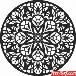 download Round Decorative mandala pattern free ready for cut