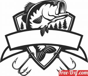 download fish silhouette wall sign free ready for cut