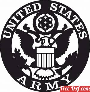 download United states army logo free ready for cut