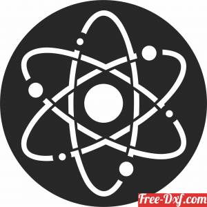 download Atom wall decor free ready for cut