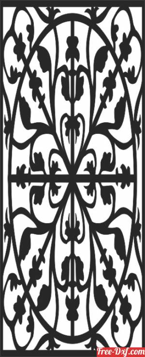 download wall screen decorative pattern door or windows free ready for cut