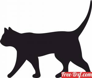 download cat silhouette wall decor free ready for cut