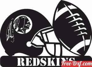 download Washington Redskins NFL helmet LOGO free ready for cut