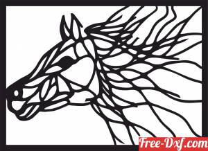 download horse wall home decor free ready for cut